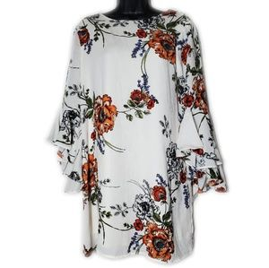 Floral Boho Dress with Bell Sleeves